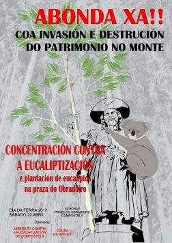cartaz contra a eucaliptización